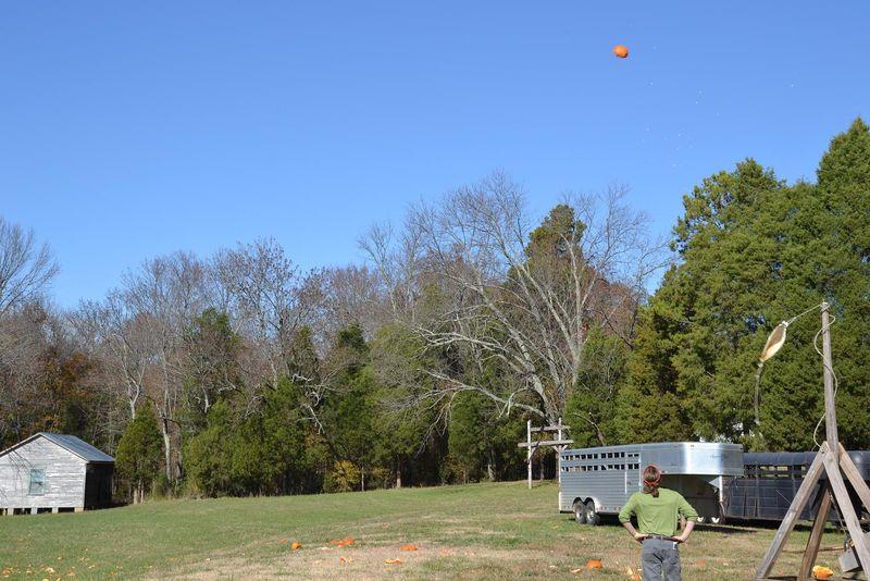 Pumpkin in flight